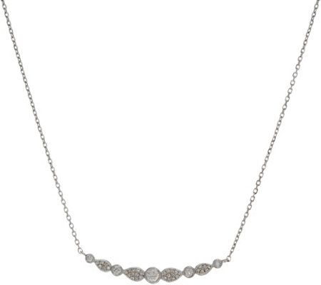 Diamond Station Adjustable Necklace, Sterling, 1/5 cttw, Affinity