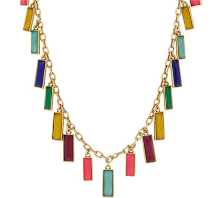 LOGO Links by Lori Goldstein Hanging Rectangles Necklace
