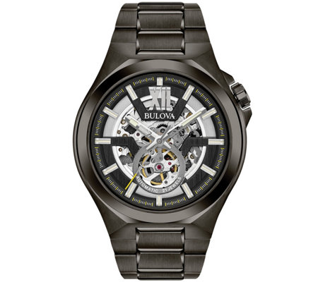 Bulova Men's Automatic Gunmetal Bracelet Watch