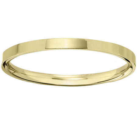 Men S 18k Yellow Gold 2 5mm Flat Comfort Fit Wedding Band