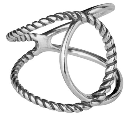Carolyn Pollack Sterling Crossover Ring