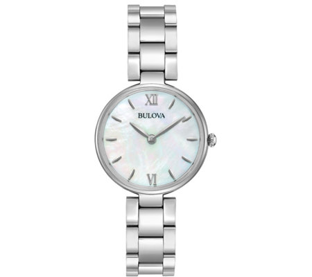 Bulova Women's Stainless Classic Mother-of-Pearl Watch