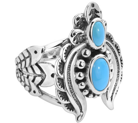 American West Sterling Sleeping Beauty Turquoise Naja Ring