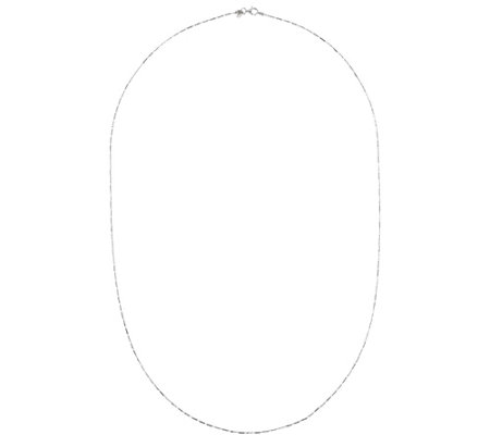 Ultrafine Silver 40 Diamond Cut Station Necklace 6 3g