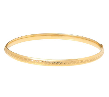 Eternagold Diagonal Design 8 Bangle 14k Gold