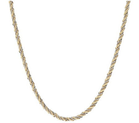 Arte D Oro 18 Two Tone Rope Necklace 18k 11 5g
