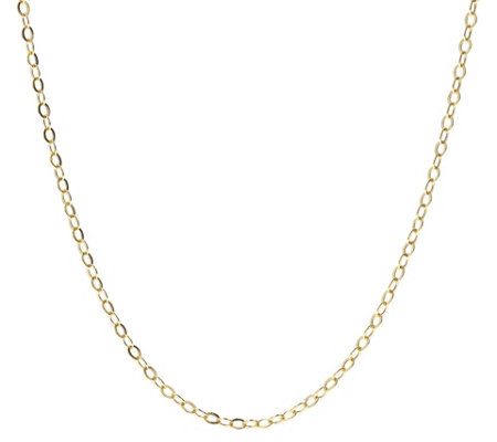 Italian Gold Flat Rolo Link 24 Chain Necklace 14k 1 9g