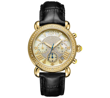JBW Women's Victory Diamond Accent Goldtone Watch