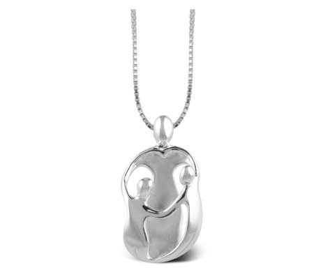 PersonalizedSterling Mother/2 Children Loving Family Pendant