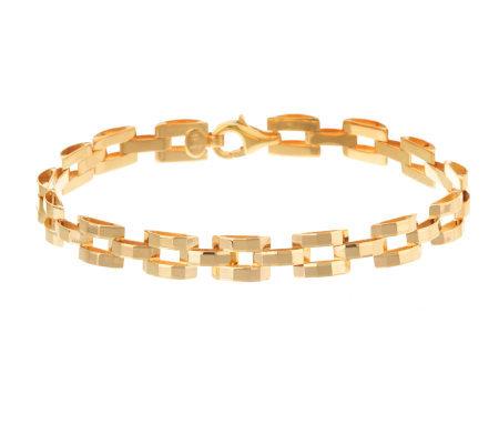 6 3 4 Inch Diamond Cut Panther Link Bracelet 14k Gold