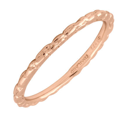 Simply Stacks 18K Rose Gold-Plated Sterling Ring - Twisted