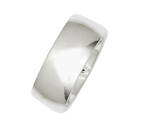 Sterling 9mm Polished Silk Fit Ring