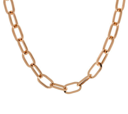 "Bronzo Italia 30"" Polished Oval Link Chain"