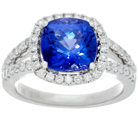 platinum one platinums with diamond jewelers ring and af tanzanite halo diamonds collection products kind a rg of