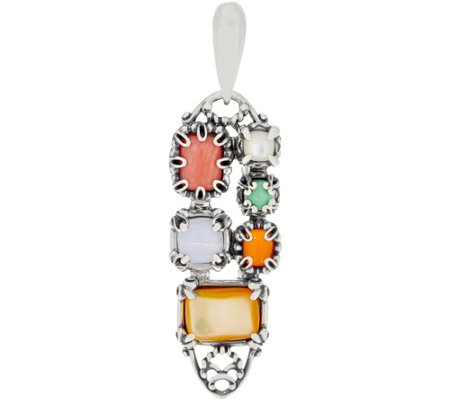 Carolyn Pollack Sterling Silver & Gemstone Positano Enhancer