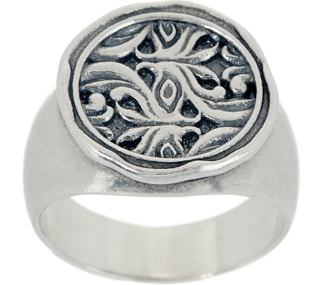 Or Paz Sterling Silver Signet Ring