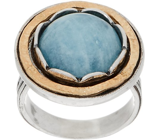 Or Paz Sterling Silver Two-Tone Gemstone Ring