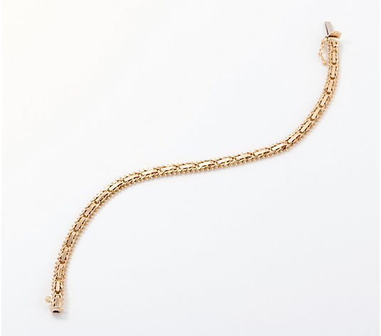 "Imperial Gold Mirror Bar 6-3/4"" Bracelet, 10.2g 14K Gold"