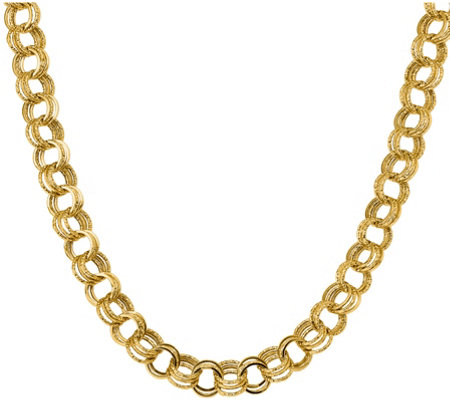 "14K Triple Link 18"" Necklace, 16.0g"