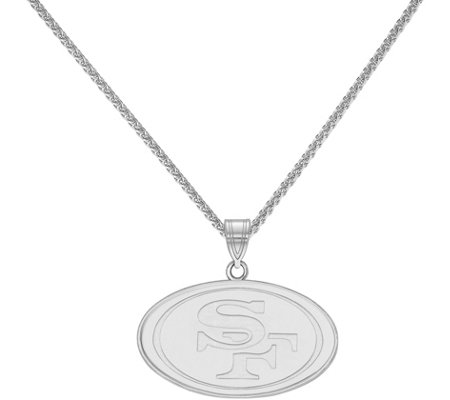 "Sterling NFL Large Pendant with 18"" Chain"