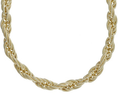 "Judith Ripka Verona 14K Gold-Clad 18"" Rope Chain Necklace"