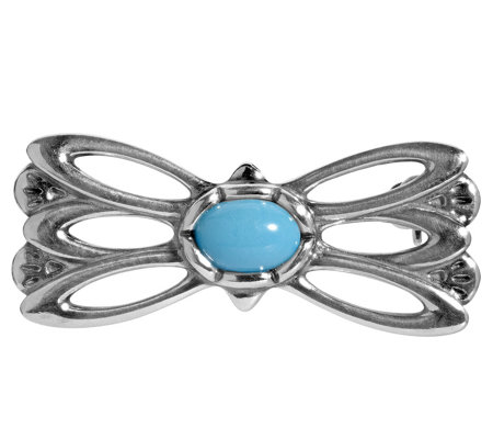 American West Sterling Turquoise Butterfly Pin