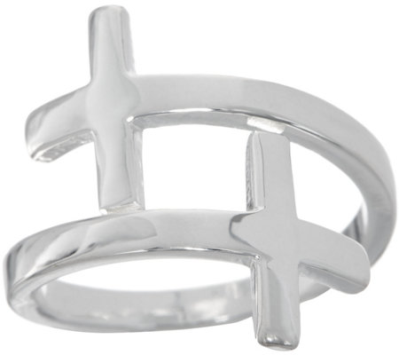 My Saint My Pillar of Faith Bypass Cross Ring