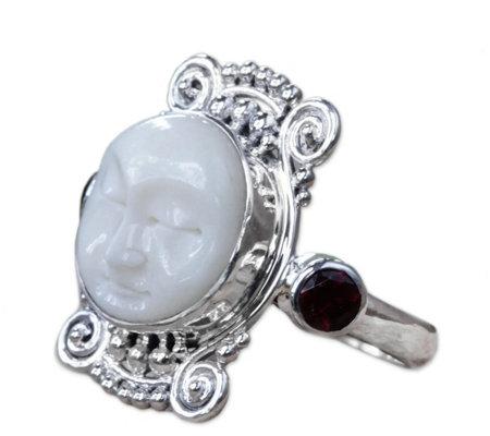 Novica Artisan Crafted Sterling Garnet Ring