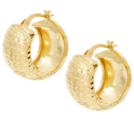 Vicenzasilver Sterling 3 4 Diamond Cut Huggie Hoop Earrings