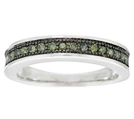 Color Band Diamond Ring, Sterling, 1/4 cttw by Affinity