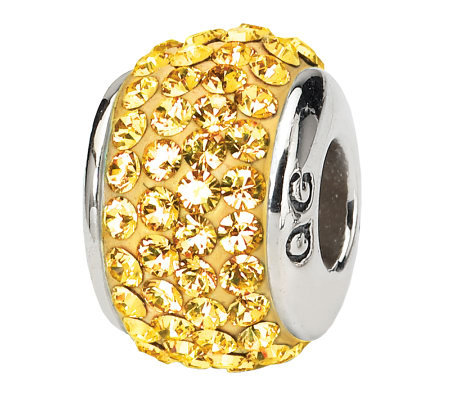Prerogatives Sterling Gold Full Swarovski Crystal Bead