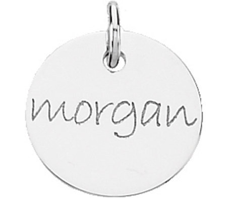 Posh Mommy Sterling Mini Disc Pendant