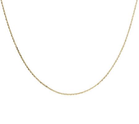 Veronese 18k Clad 18 Forzatina Diamond Cut Oval Link Chain