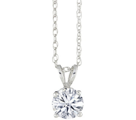 Round Diamond Pendant, 14K Gold 1/3 cttw, by Affinity