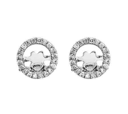 1/5 cttw Diamond Round Post Earrings, 14K Gold
