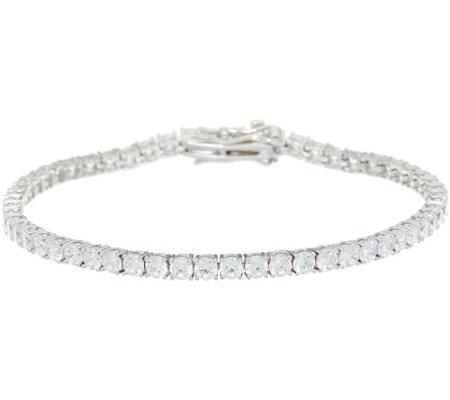 Diamonique Round Tennis Bracelet Sterling
