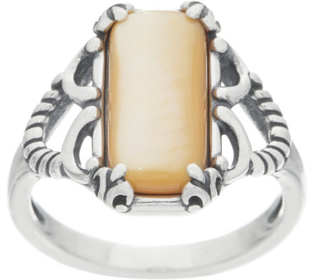 Carolyn Pollack Positano Mother of Pearl Sterling Silver Ring