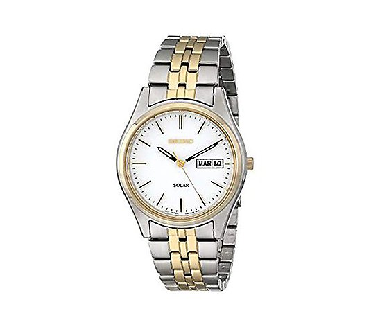 Seiko Men's Two-Tone Stainless Steel Watch w/ Date Window