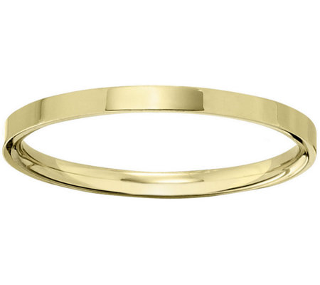 Women's 18K Yellow Gold 2.5mm Flat Comfort FitWedding Band
