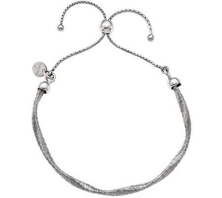Sterling Twisted Adjustable Bracelet, 4.1g by Silver Style
