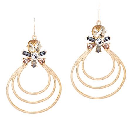 Catherine Malandrino Triple Layer Teardrop Earrings