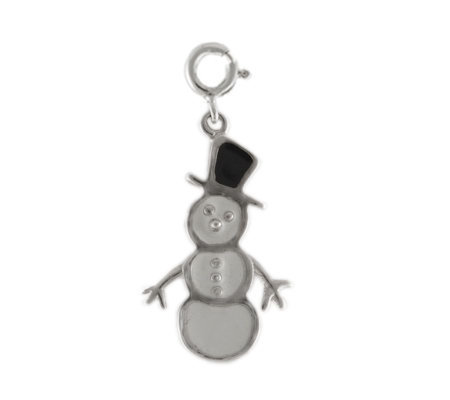 Sterling Snowman Charm with Enamel