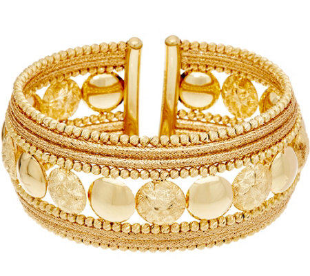 Arte d'Oro Average Polished & Satin Finish Cuff, 18K 37.3g