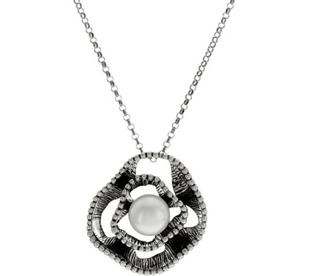 Or Paz Sterling Silver Cultured Pearl Pendant with Chain