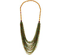 "Joan Rivers Shimmering Layered Seed Bead 31"" Necklace - J349740"