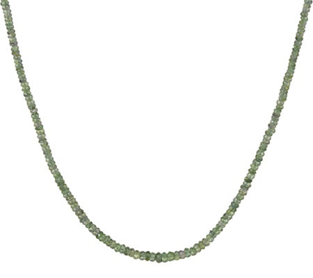 """As Is"" Sterling Faceted Sapphire Bead 18"" Necklace"