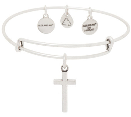 Alex and Ani Cross Charm Bangle