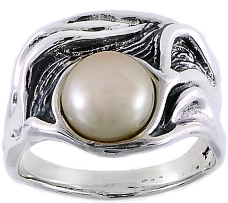 Hagit Sterling Silver Cultured Freshwater Pearlring