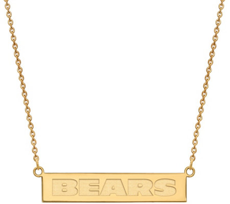 Sterling & 14K Plated NFL Bar Necklace