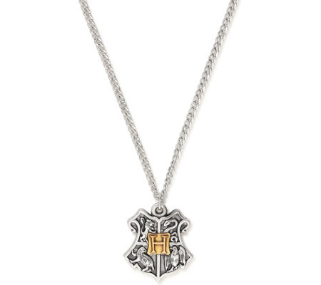 Alex and Ani Harry Potter Hogwarts Two-Tone Pendant Necklace